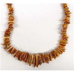 Navajo Stacked Red Shell Necklace