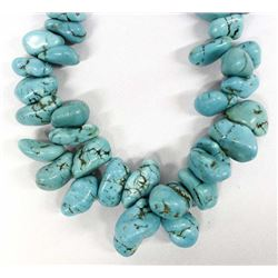 Dyed Turquoise Green Howlite Choker Necklace
