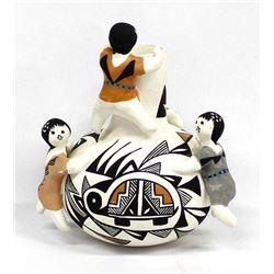Acoma Pottery Storyteller Vase by Kathleen Lewis