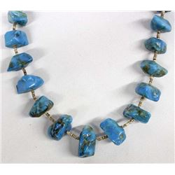 Navajo Natural Turquoise & Shell Heishi Necklace