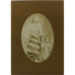 Antique Photo of Native American Woman and Child