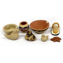Collection of Native American Miniature Pottery