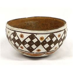 Historic Isleta Polychrome Pottery Bowl