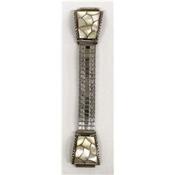 Navajo Sterling Mother of Pearl Watch Band