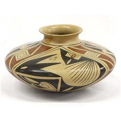 Vintage Polychrome Pottery by Olga Quezada