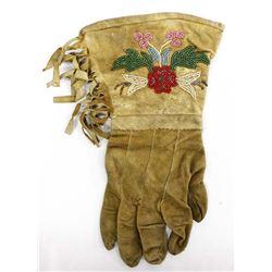 Nez Perce Single Beaded Leather Gauntlet