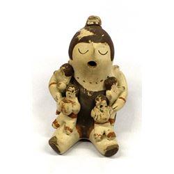Vintage Cochiti Pottery Storyteller by Trujillo