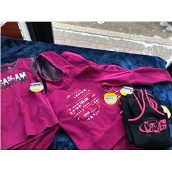 2 youth Can-am hoodies; 1 youth t-shirt, 3 ladies tank tops