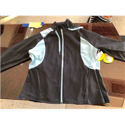 2 ladies' Can-am zipped poly jackets, size L and XL