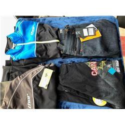 1 pair Triumph jeans, size 32; 2 Thor jackets, size M; 1 XL t-shirt