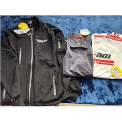 Fly Racing wind jacket; long sleeve shirt; polo; all size M