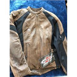 Joe Rocket Riviera brown leather jacket, size S