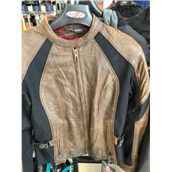 Joe Rocket Riviera brown leather jacket, size L