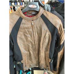 Joe Rocket Riviera brown leather jacket, size L
