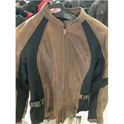 Riviera brown leather jacket, S