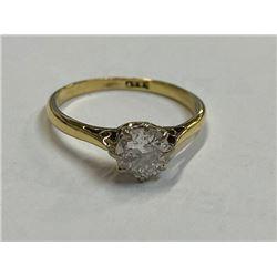 18K LADIES ENGAGEMENT RING WITH DIAMONDS RV $3,200.00