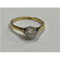 18K LADIES ENGAGEMENT RING WITH DIAMONDS RV $3,200.00