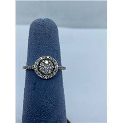 10K LADIES CLUSTER RING WITH DIAMONDS RV $1,350.00
