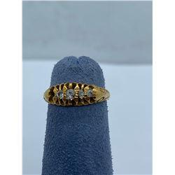 18K LADIES RING WITH DIAMONDS RV $650.00