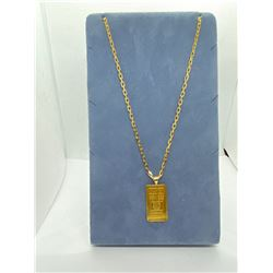 """10K CHAIN 20"""" WITH 24K PENDANT RV $975.00"""