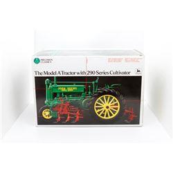 John Deere A tractor w/ 290 series cultivator 2 Precision Classics Ertl 1:16 HAS BOX