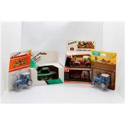John Deere 4WD 1:64, 2 IH 3588 1:64, Ford 9700 1:64 & Ford TW-20 1:64