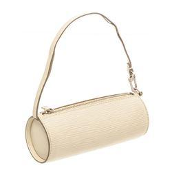 Louis Vuitton White Epi Leather Mini Papillon Pochette Bag