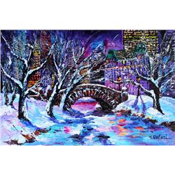 Yana Rafael Painting Frosty Day in Central Park