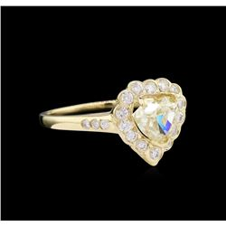 1.60 ctw Fancy Light Yellow Diamond Ring - 14KT Yellow Gold