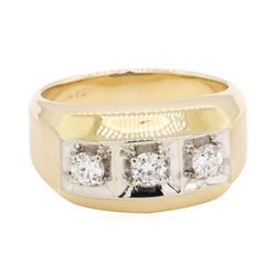 0.5 ctw Diamond Ring -14KT Yellow And White Gold