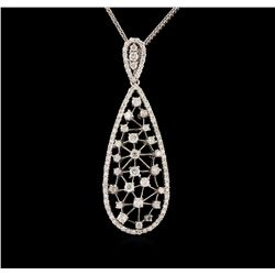 14KT White Gold 1.72 ctw Diamond Pendant With Chain