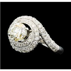 14KT White Gold 2.24 ctw Diamond Ring