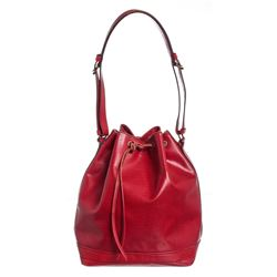 Louis Vuitton Red Epi Leather Noe GM Drawstring Shoulder Bag