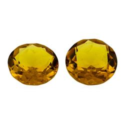 9.64 ctw.Natural Round Cut Citrine Quartz Parcel of Two