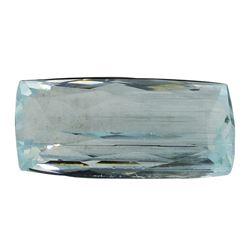 11.32 ct.Natural Cushion Cut Aquamarine
