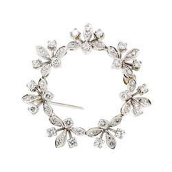 1.00 ctw Diamond Pendant-Pin - 14KT White Gold