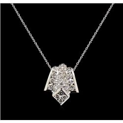 2.02 ctw Diamond Pendant With Chain - 14KT White Gold
