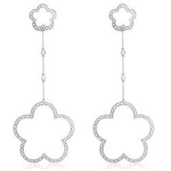 14k White Gold 0.63CTW Diamond Earrings, (I1 /H-I)