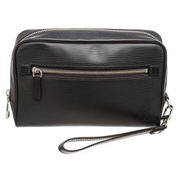 Louis Vuitton Gray Epi Leather Osh Pouch Clutch Bag