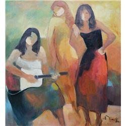 Gholam Yunessi Beautiful Original Oil Painting