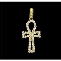 2.82 ctw Diamond Pendant - 14KT Yellow Gold