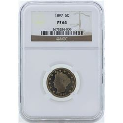 1897 Liberty Head Proof Nickel Coin NGC PF64