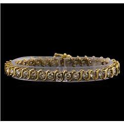 7.13 ctw Diamond Bracelet - 14KT Yellow Gold