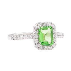 1.46 ctw Tsavorite and Diamond Ring - Platinum
