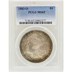1883-O $1 Morgan Silver Dollar Coin PCGS MS65
