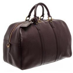 Louis Vuitton Burgundy Taiga Leather Kendall Travel Bag Luggage