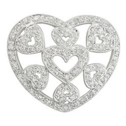14k White Gold 0.46CTW Diamond Pendant, (I1-I2/H-I)