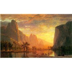 Valley in Yosemite by Albert Bierstadt