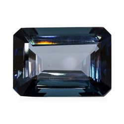 47.08 ct.Natural Emerald Cut London Blue Topaz