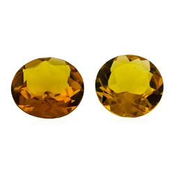 10.07 ctw.Natural Round Cut Citrine Quartz Parcel of Two